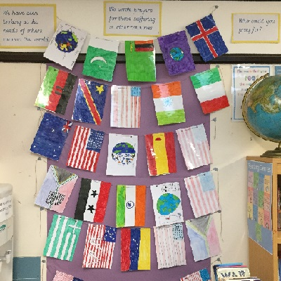 Our Christian Distinctiveness 12 Y6 prayer flags
